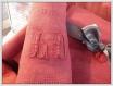Service de table recomposé et teint dans son pochon