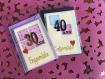 Carte anniversaire de mariage  à personnaliser (modèle cam001)