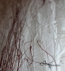 Peinture abstraite contemporaine beige blanc cerise