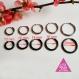 1pcs boucle d'oreille de cartilage homme:noir/or/argent huggie anneaux infinies pour piercing hélix tragus petit ou moyenne