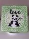 Carte anniversaire enfant. carte thème animaux. carte panda.