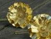 Boucles d'oreilles en argent certifié fairmined plaqué or - joaillerie éthique