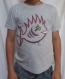 T-shirt enfant 6 ans, gris, 100% coton, avec un poisson pirate punky et funky