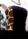 Bustier top girafe, original, sexy et unique