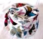 Chapeau fille souple réversible motif papillons colorées, fait main, unique, tour de tête 50 cm