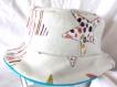 Chapeau fille souple réversible motif étoiles de mer colorées, fait main, unique, tour de tête 52 cm