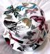 Chapeau femme/fille souple réversible motif papillons colorées, fait main, unique, tour de tête 54 cm