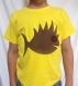 T-shirt enfant 3/4 ans, jaune, 100% coton, avec un poisson pirate  funky