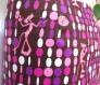 La célèbre panthère rose ! jupe réversible portefeuille 100% coton, taille m, rose, noir, marron, caractère, humour
