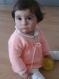 Tricot pull orange/saumon bébé fille 9 mois