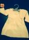 Tricot ensemble robe et boléro jaune chaussons bébé fille 3 mois