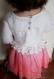 Tricot robe tulle tutu manches longues rose blanc bébé fille 12 18 mois