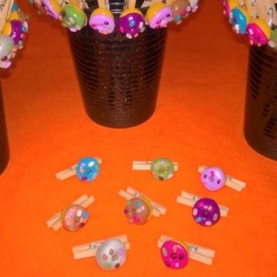 Lot de 8 marque-verres de fête en donuts