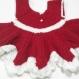 Robe noël rouge blanche crochet sur commande