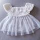 Robe bébé baptême robe crochet tulle blanche cérémonie