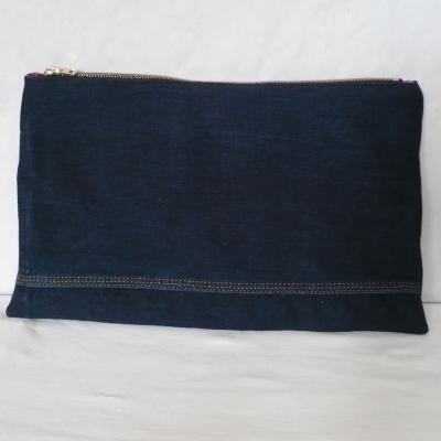 Grande pochette en jean recyclé ninon