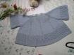 Manteau tricot, pull pour 12 mois, layette vintage année 1960/knit coat, sweater for 12 months layette vintage 1960's