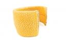 Bracelet large manchette cuir de galuchat perlé (raie) jaune