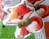 Coupon tissu oeko tex pour coussin doudou (ou bouillotte sèche) renard + hochet à coudre soi-même - cut and sew