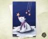 Carte de voeux noël nouvel an  fête des mères  ours polaire, étoile et banquise
