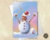 Carte de voeux noël nouvel an loutre bonhomme de neige