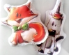 Coupon tissu oeko tex pour coussin doudou (ou bouillotte sèche) licorne + guirlande de drapeaux à coudre soi-même - cut and sew