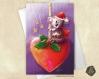 Carte de voeux noël nouvel an  koala et coeur