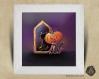 Cadre carré 25x25 cadeau naissance avec illustration  chat citrouille d'halloween  pour chambre enfant bébé