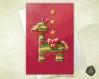 Carte de voeux  fête des mères noël nouvel an anniversaire lama piñata
