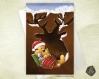 Carte de voeux noël nouvel an  fêtes de fin d'année bébé marmotte