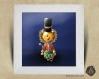 Cadre carré 25x25 cadeau naissance avec illustration lionceau casse-noisette pour chambre enfant bébé
