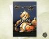 Carte de voeux halloween cochon d'inde et citrouilles