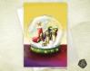 Carte de voeux noël nouvel an suricates et boule à neige