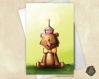 Carte de voeux ours cupcake bougie anniversaire