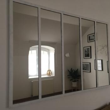Verriere miroir maison et deco miroirs par passion acier for Miroir type verriere