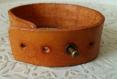 Bracelet cuir marron et marron clair avec motif noeud celtique