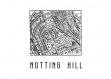 Poster carte des toits du quartier notting hill