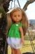 Ensemble vert et blanc pour poupée corolle les chéries