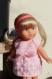Robe rose poudré pour poupée mini corolline de corolle