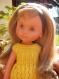 La petite robe jaune pour poupée les chéries de corolle