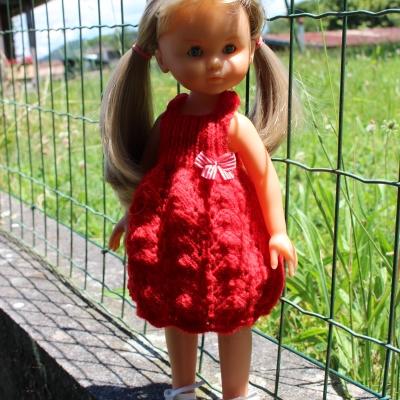 la petite robe rouge pour poupée les chéries de corolle