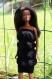 Robe noire pour barbie