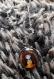 Collier pendentif cabochon manga orangé