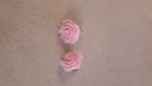 Boucle d'oreille rose xxl