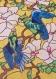 Vitrail de fleurs et d'oiseaux