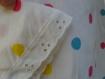 Robe bébé a poids multicolores en coton