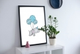Poster enfant elephant personnalise