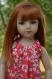 Patron : robe à nouettes, blouse à volant et short pour poupées maru & friends - 52 cm
