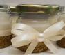 Bougies avec des paillettes dorées à offrir