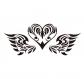 Flex 15cm coeur ailes tribal